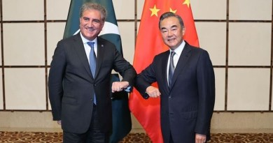 Foreign Ministers for China, Wang Yi, (right) and Pakistan, Shah Mahmood Qureshi. Photo Credit: Facebook/Shah Mahmood Qureshi