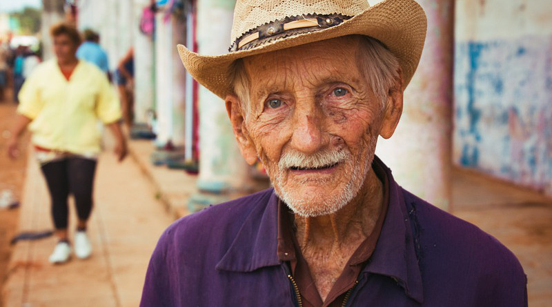 Cuba Man Old Man Street City Town Travel Portrait