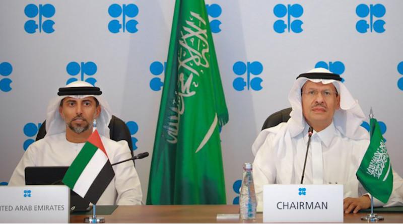 Saudi Arabia's Energy Minister Prince Abdul Aziz (right). Photo Credit: Twitter