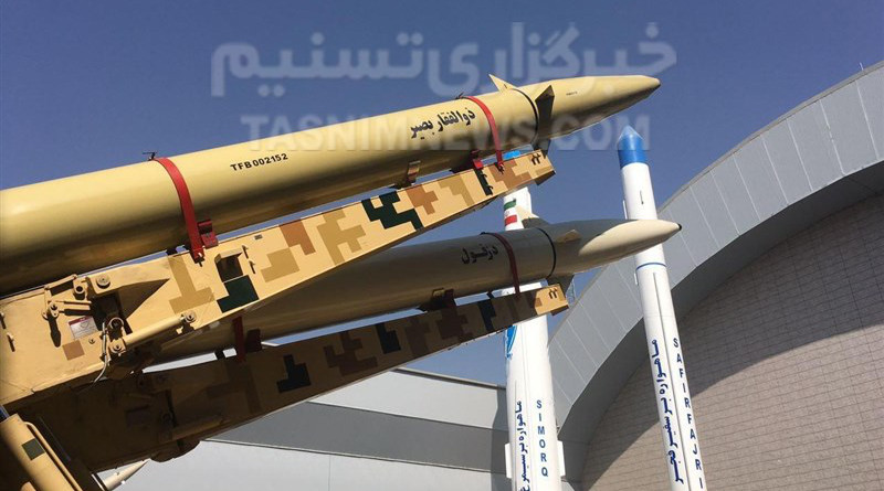 Iran's IRGC new 'Zolfaqar Basir' ballistic missile. Photo Credit: Tasnim News Agency