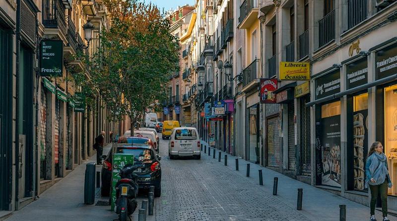 Madrid Spain Street City Architecture Building
