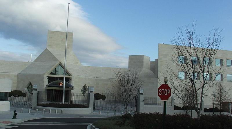 China's embassy in Washington, D.C., United States. Photo Credit: Krokodyl, Wikipedia Commons