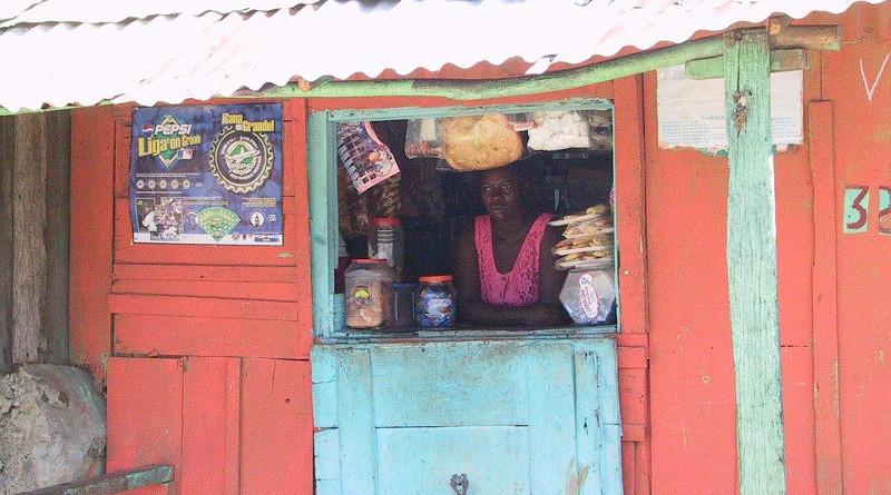 Haiti Shop Woman Poverty