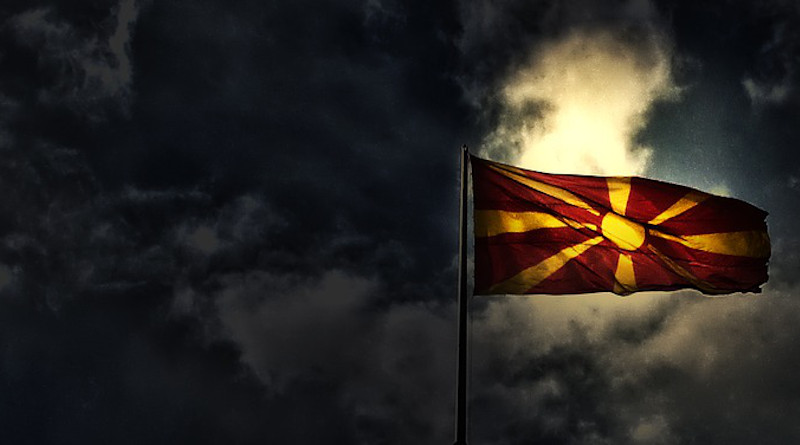 Macedonia Flag Country Republic Europe Banner