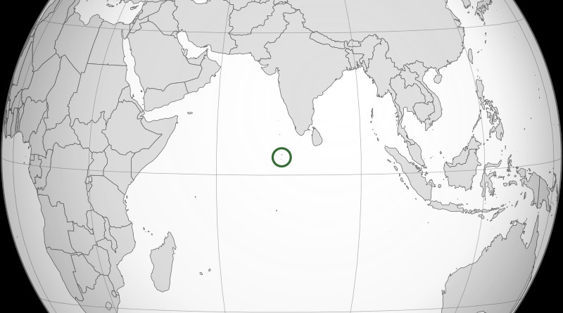 Location of Maldives in the Indian Ocean. Credit: Wikipedia Commons