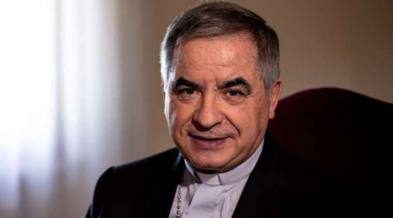 Giovanni Angelo Becciu, former prefect of the Congregation for the Causes of Saints, pictured June 27, 2019. Credit: Daniel Ibáñez/CNA.
