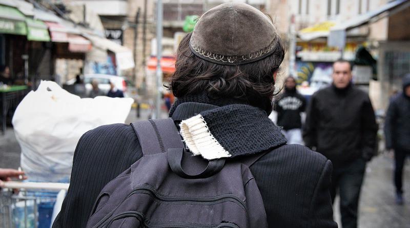 Street People City Israel Jerusalem Jew Orthodox