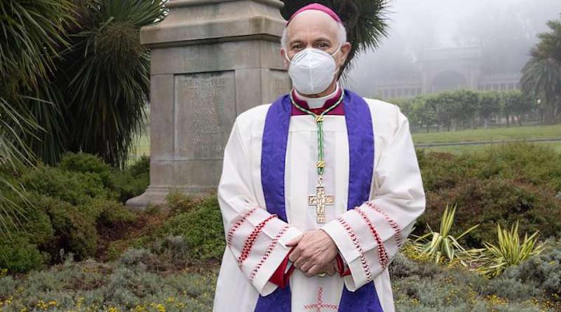 Archbishop Salvatore Cordileone during a June 27 prayer service in Golden Gate Park. Credit: Dennis Callahan/Archdiocese of San Francisco