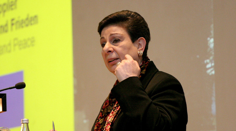 Palestinian Hanan Ashrawi. Photo Credit: Carsten Sohn, Wikipedia Commons