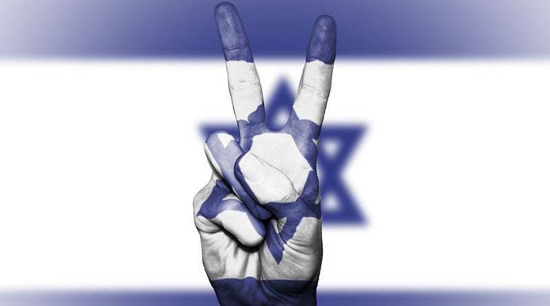 Flag Israel Peace Hand Nation Background Banner Colors