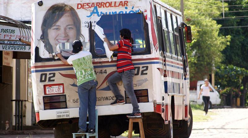 Bus Human Road Paraguay South America