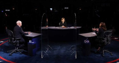 Debate between US VP Mike Pence and Sen. Kamala Harris. Photo Credit: Fars News Agency