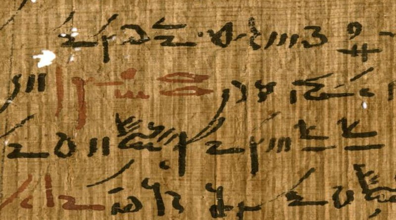 Detail of a medical treatise (inv. P. Carlsberg 930) from the Tebtunis temple library with headings marked in red ink. Image credit: The Papyrus Carlsberg Collection. CREDIT The Papyrus Carlsberg Collection.