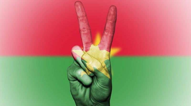 Burkina Faso Flag Peace Background Banner Colors