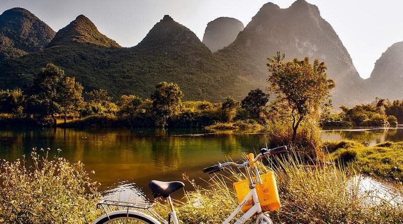 China Landscape Sunrise Mountains