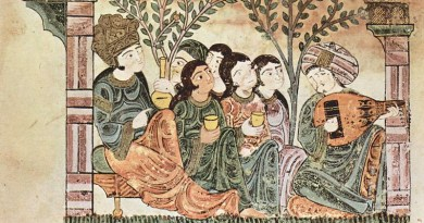 A self-depiction by the Muslims in Al-Andalus. Taken from the Tale of Bayad and Riyad. Credit: Maler der Geschichte von Bayâd und Riyâd - The Yorck Project, Wikipedia Commons