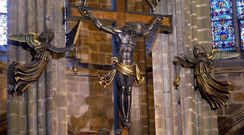 cross Barcelona Spain Catalonia Catalan Church Cathedral