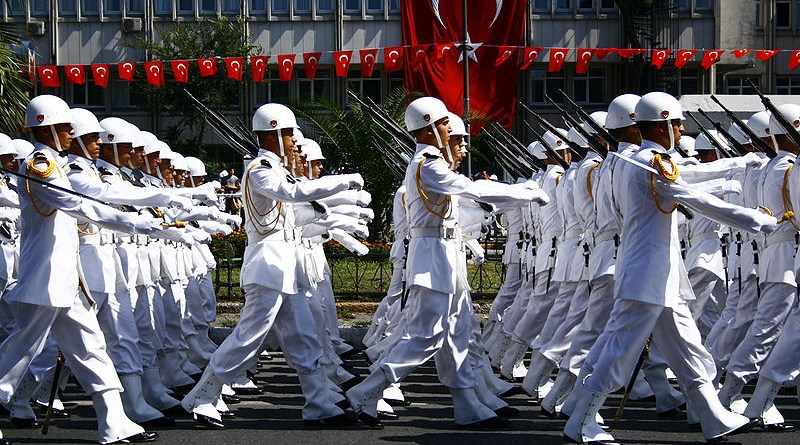Sailors in Turkey's navy on parade. Photo Credit: Nérostrateur, Wikipedia Commons