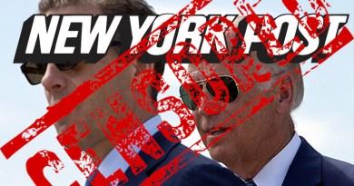 Montage of Hunter Biden and former US vice-president Joe Biden and New York Post logo