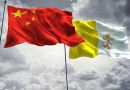 Flags of China and Vatican City. Credit: FreshStock on Shutterstock.