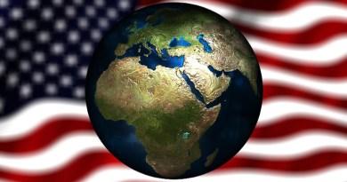 usa united states flag middle east africa globe