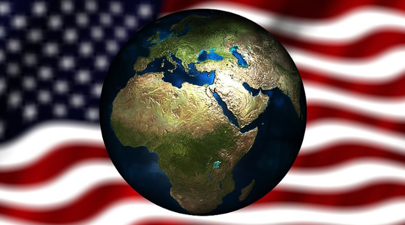 usa united states flag middle east africa globe