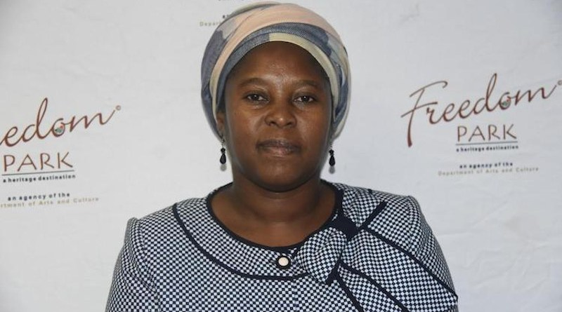 Ms. Jane Mufamadi, Chief Executive Officer (CEO) of the Freedom Park Memorial Museum Complex in Pretoria, South Africa.