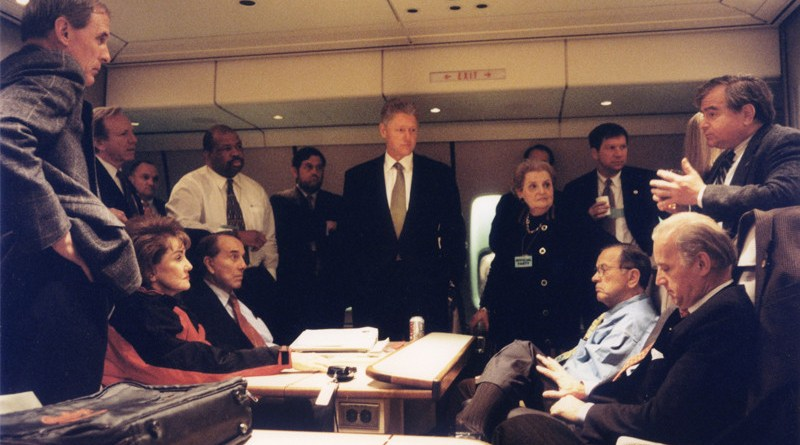 Senator Joe Biden accompanied President Bill Clinton and other officials to Bosnia in December 1997. Photo Credit: Office of Senator Joe Biden