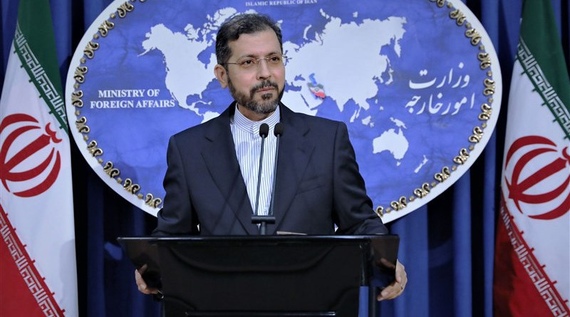 Iranian Foreign Ministry spokesperson Saeed Khatibzadeh. Photo Credit: Tasnim News Agency