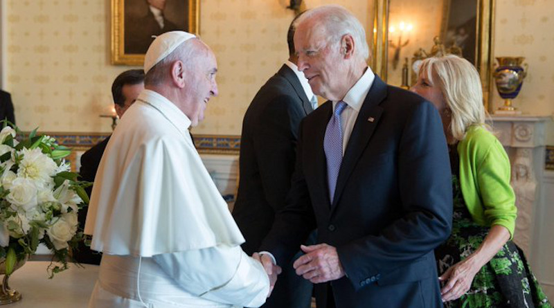 Pope Francis with US Vice President Joe Biden in 2015. Photo Credit: Obama Whitehouse Archives