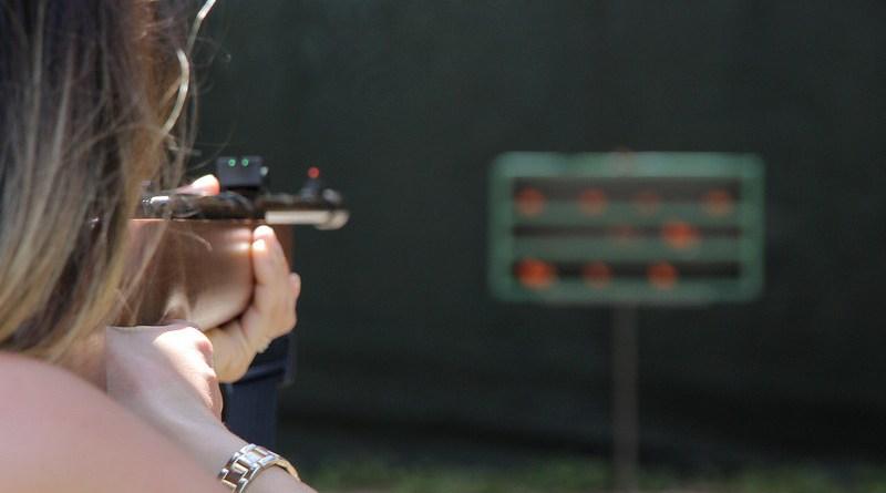 Woman Rifle Shoot Gun Weapon Female Young Person