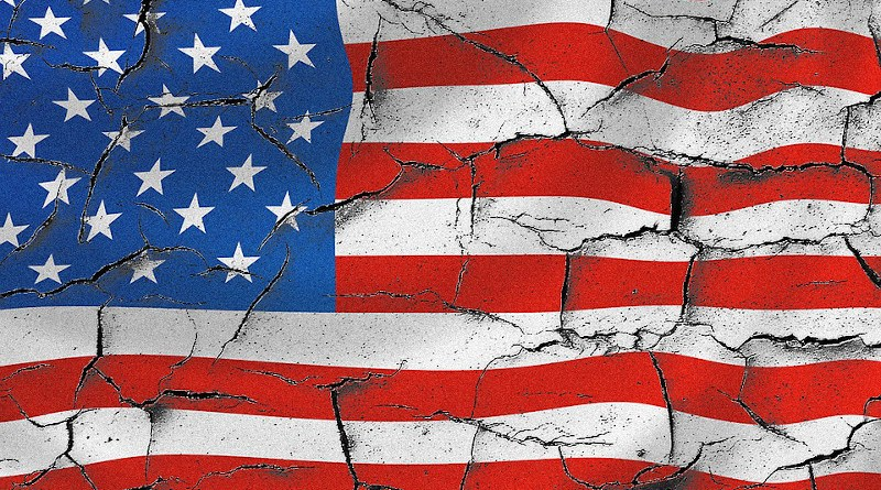 united states Usa American Flag Cracked Usa Flag