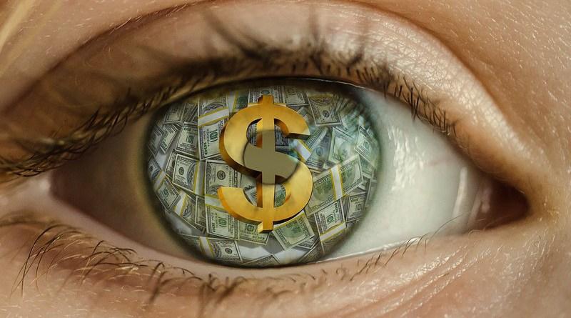 american dream eye dollar greed