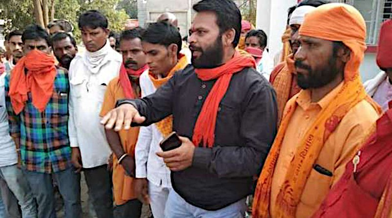 Hindu activists campaign in villages of Jhabua district in India's Madhya Pradesh state on Nov. 3, asking people to support their demand to deny social benefits to tribal people who convert to Christianity. (Photo supplied)