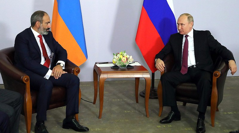 Prime Minister of Armenia Nikol Pashinyan with Russia's President Vladimir Putin. Photo Credit: Kremlin.ru