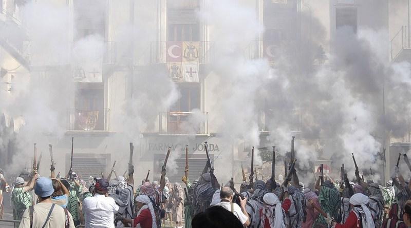 radical islam protest Revolution Arabic Powder Smoke Arab Flag Country