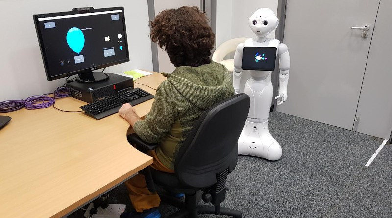 A SoftBank Robotics Pepper robot was used in the two robot conditions. Pepper, 1.21-meter-tall with 25 degrees of freedom, is a medium-sized humanoid robot designed primarily for Human-Robot Interaction (HRI). CREDIT University of Southampton