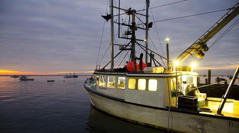 A fishing vessel preparing to fish at sunrise. CREDIT NOAA Fisheries