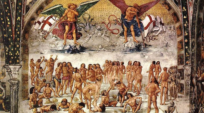Resurrection of the Flesh, fresco by Luca Signorelli in the San Brizio chapel of Orvieto Cathedral (1499-1502).