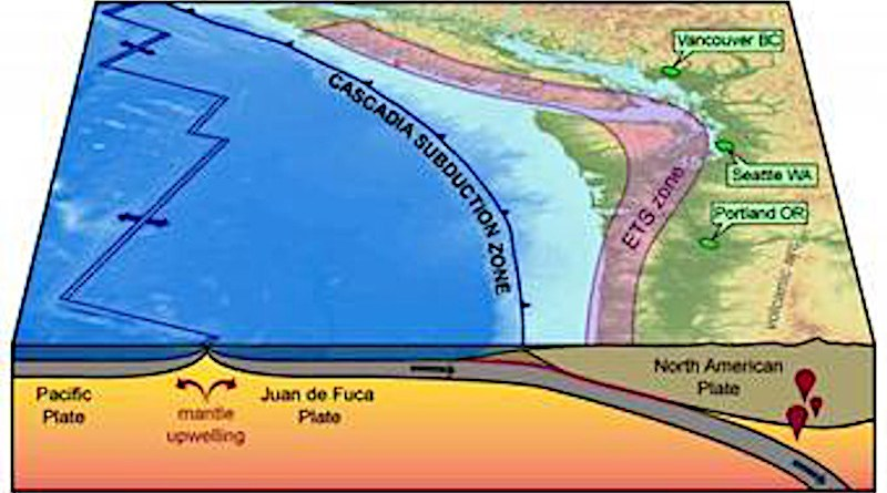 Map of the Cascadia subduction zone. CREDIT Public Domain