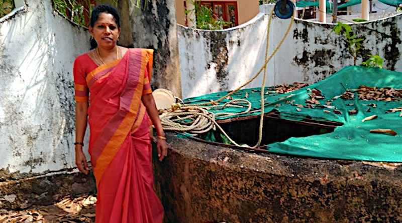 Smt. Deepa Jose Thekkedam who helped with the upkeep of the well. Photo Credit: Jose Jacob