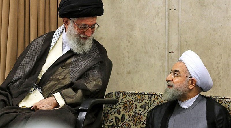 Iran's Ayatollah Seyed Ali Khamenei and President Hassan Rouhani. Photo Credit: Tasnim News Agency