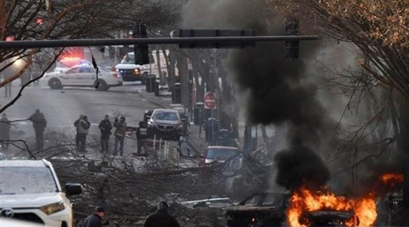 Aftermath of RV bomb in Nashville on Christmas morning. Photo Credit: Tasnim News Agency