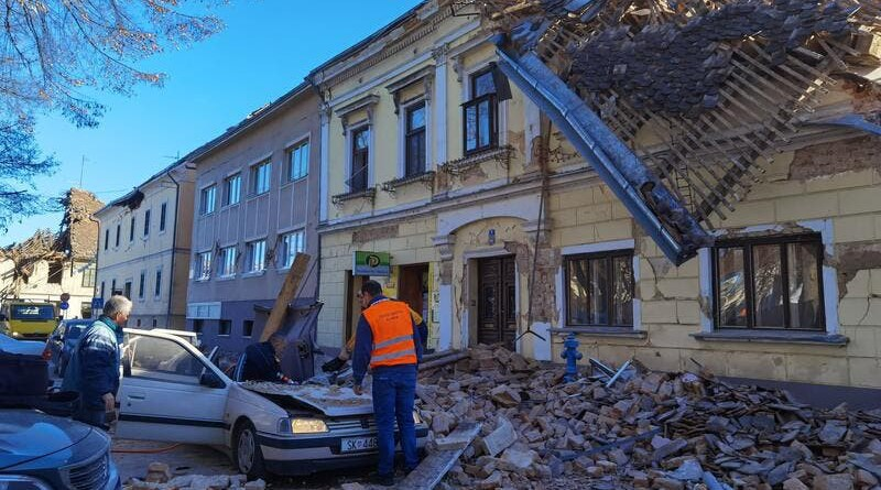 Aftermath of earthquake in Croatia. Photo Credit: Twitter