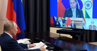 Russia President Vladimir Putin attends virtual BRICS summit. Photo Credit: Brics-russia2020.ru