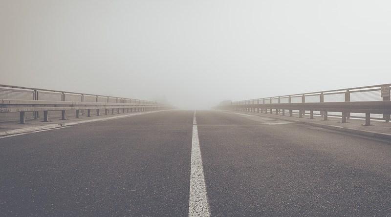 Infrastructure Fog Road Highway Tar Central Reservation Landscape