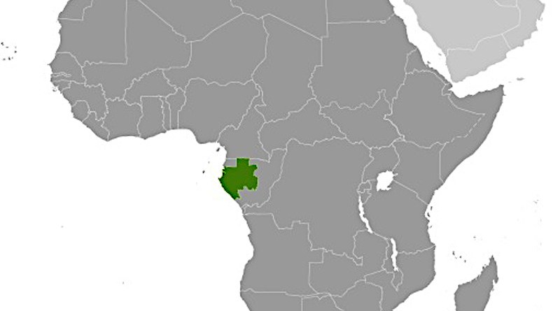Location of Gabon in Africa. Credit: CIA World Factbook