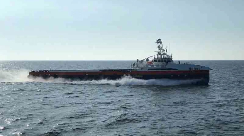 This unmanned surface vessel, part of the Strategic Capabilities Office's Ghost Fleet Overlord program, recently made a trip from the Gulf Coast to the coast of California, almost entirely by traveling autonomously. In December, it participated in exercise Dawn Blitz, where it also demonstrated its autonomous capabilities. Photo Credit: Defense Department Strategic Capabilities Office
