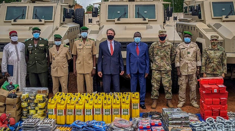 US donates US$8 million in military equipment to Niger to aid the West African nation and its G5 Sahel Joint Force partners in the fight against terrorism in the region. Photo Credit: US Embassy Niger