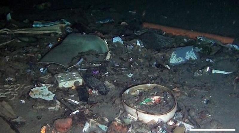 A litter hotspot at 415 m depth in the Strait of Messina, Mediterranean Sea. CREDIT M. Pierdomenico D. Casalbore and F. Chiocci/National Research Council/La Sapienza University in Rome